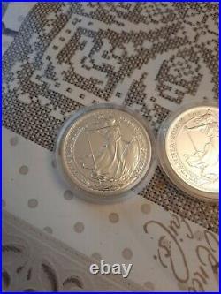 3x 2014 Britannia Mule Error Solid Silver Bullion Coin 1oz £2 Lunar Reverse