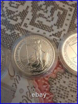 3x 2014 Britannia Mule Error Solid Silver Bullion Coin 1oz £2 Lunar Reverse 2