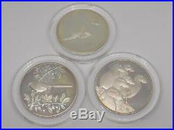3x Heavy Solid Sterling Silver Collectors Coins. 201 grams. Full English Marks