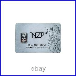40x 2.5 gram Solid Silver Bar 999 Brand NEW
