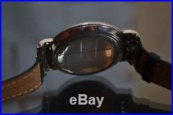 46mm Carl F. BUCHERER watch solid silver vintage men's chronometer