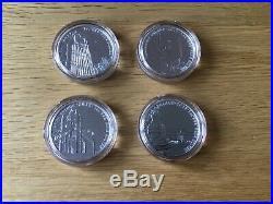 4 Landmarks of Britain Big Ben Trafalgar Square Tower Bridge Palace silver coins