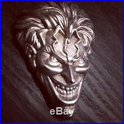 4 Ounce (. 999) Silver The Joker Hand poured Ingot Solid Silver