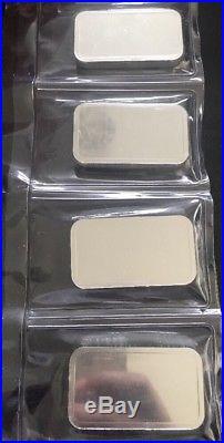 4 X 100 Umicore Silver Bullion Bars 999 Solid Silver