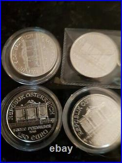 4 solid 1 oz 999 silver 2016 philharmoniker in Protective capsules