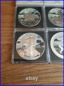4x 1oz Solid Silver Bullion Coins Eagle Maple Britannia Kookaburra Normandy