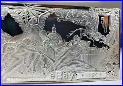 $500 Dollar Half Pound Silver Note Gods & Angles Solid Silver. 999 Art Bar Rare
