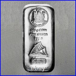 500 Grams Silver Bar. 999 Pure Solid Bullion Bar FIJI