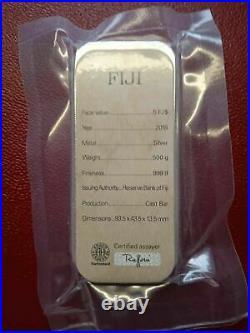 500 Grams Silver Bar. 999 Pure Solid Bullion Bar FIJI Silver Bar