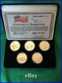 50 State Solid Silver 1oz Commemoratives Solid silver Coins Rounds
