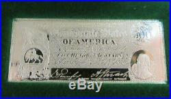(50)worlds Greatest Banknotes Solid Sterling Silver Complete Set Franklin Mint