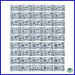 50x 2.5 gram Solid Silver Bar 999 Brand NEW