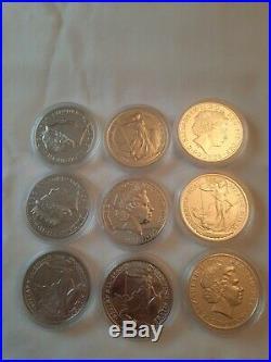 5X 2014 Mint Britannia Solid Silver £2 Mule With Lunar Horse Reverse 1oz Coin