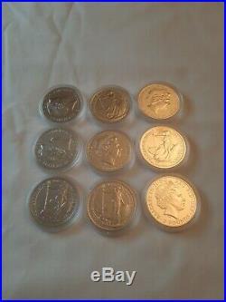 5X 2014 Mint Britannia Solid Silver £2 Mule With Lunar Horse Reverse 1oz Coin 2