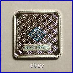 5 Gram Geiger Square Silver Bars Full Sealed Box of 30