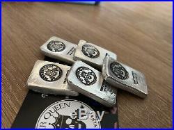 5 X 1 Ounce Chunky (. 999) Silver StackerQueen Bullion Bar Solid Silver Ingot