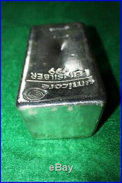 5 kg Kilo Umicore silver bar. 999 Solid Silver