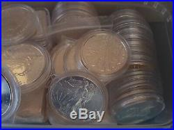 5 x 1 oz Assorted Solid Silver Coins Various But All Cased