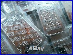 5 x JOHNSON MATTHEY 1oz Solid Silver bars /. 999 Fine Silver BARGAIN