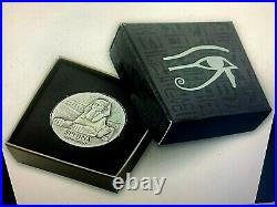 5oz. 999 SOLID SILVER ANTIQUE- PROOF COINTHE SPHINX of HATSHEPSUTBRAND NEW