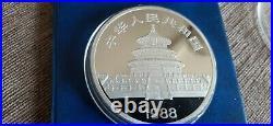 5oz Silver China 1988. 999 Fine Solid Silver. 147g In capsule