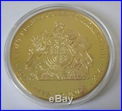 5oz solid 925 silver £5 coin Tristan Da Cunha ltd ed. 199 + similar gold plated