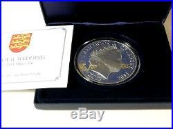 5oz solid. 925 silver proof £10 coin Jersey 2011 Ltd ed 371/ 450 box & COA -1230