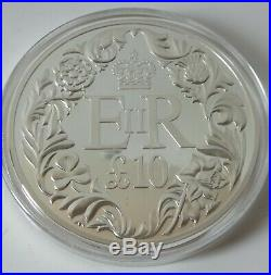 5oz solid silver proof £10 coin Guernsey 2012 Ltd ed 290/ 450 box & COA 1233