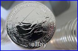 60 Britannia solid 1oz 999 silver bullion coins varied years 2014, 2015, 2016