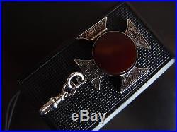 66g CHUNKY HEAVY SOLID SILVER charm bracelet DETACHABLE 1890 SILVER LOCKET 8.5in