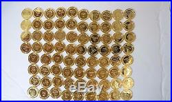 76 Lot Raphael MasterPieces Gilded Solid Sterling Silver Medals 71.4 Troy oz ASW