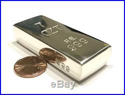 7+ OZT 100% Solid. 999 Pure Handmade Fine Silver Ingot Poured Bullion Bar