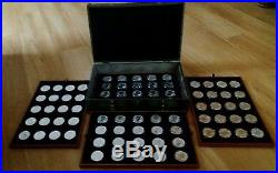 80 UNC Canadian 2015 1oz 5 Dollar Solid. 9999 Silver Maple Coins in 4 tier Chest