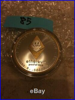 #85 Finite by Design ETHEREUM ETH 1 oz. 999 Solid Silver Round Color Coin With COA