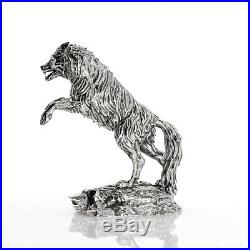 8 OZ TIMBER WOLF PREDATOR'S PRINT SOLID SILVER 3D STATUE #003 Serial Number