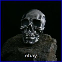 925 Solid Silver skull #Heavy #fully hallmarked #quality