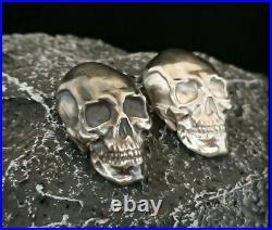 925 Solid Silver skulls