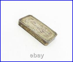 925 Sterling Silver Vintage Antique America In Space Bullion Square TR1412
