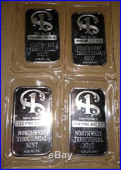 9 x Sealed Northwest Territorial Mint 1 oz 1oz. 999 solid silver bar