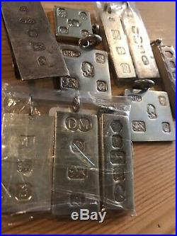 9x Solid Silver Ingots 210 Grams Of Sterling Silver And 1 Money Clip