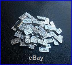 ACB INGOT Silver (1000 PACK) SOLID BULLION MINTED 1GRAIN BARS 99.9 FINE Ag