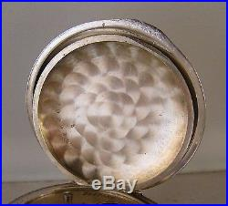 ANTIQUE ILLINOIS A. LINCOLN 21j SOLID SILVER OPEN FACE 18s RAILROAD POCKET WATCH