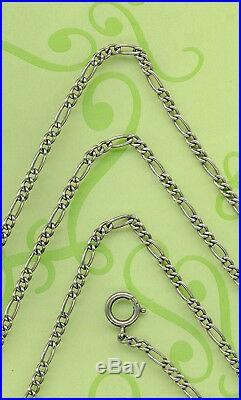 ANTIQUE LONG VINTAGE SOLID SILVER POCKET WATCH CHAIN or PENDANT CHAIN 154 CM