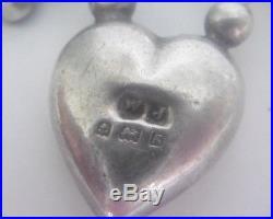 Antique Solid Silver Agate Clover Shamrock Padlock Bracelet Birmingham 1906