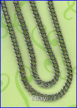 ANTIQUE SOLID SILVER POCKET WATCH CHAIN or PENDANT CHAIN 48 CM SEAL