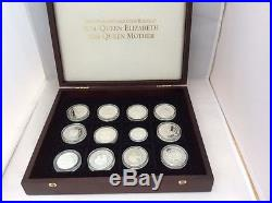 A Cased Solid Silver Coin Collection In Honour Of Hm The Queen Mother