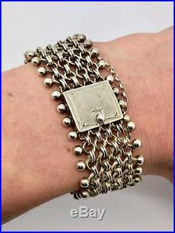 A Splendid Antique Victorian French Solid Silver Bracelet Excellent Condition