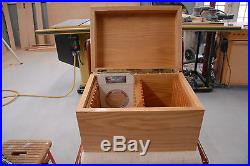 America the beautiful 5oz silver quarter solid oak box for NGC graded coins