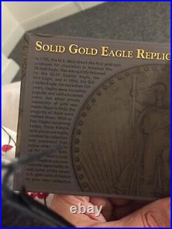 American Eagle Gold Coin Set 14k SOLID GOLD Commemorative Coins Set Each 0.5g