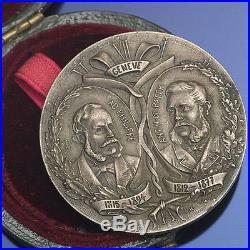 Antique 1901 PATEK PHILIPPE Commemorative Medal in Solid Silver in orig. Box